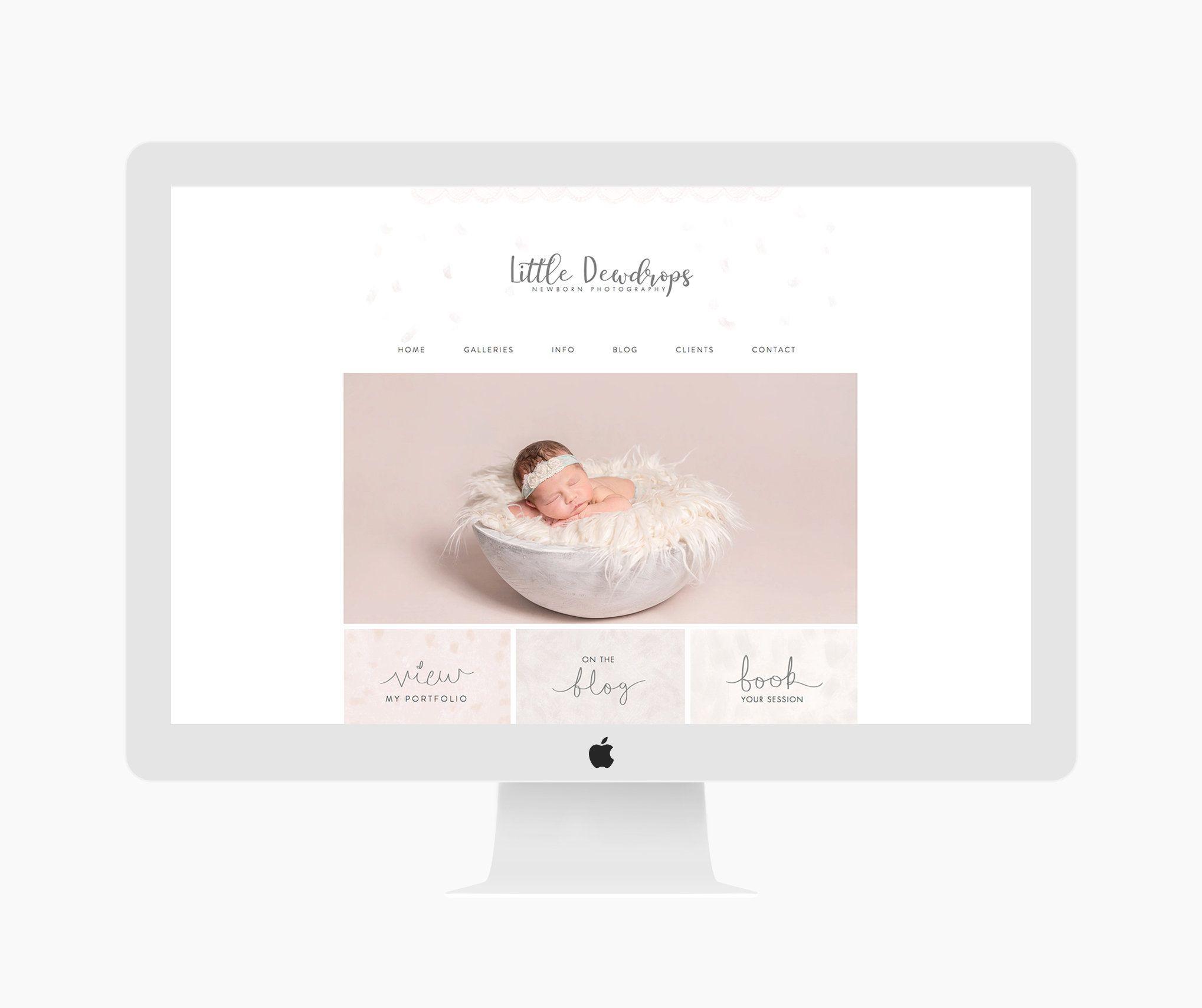 Wix Website Design, Website Template, Photography Logo