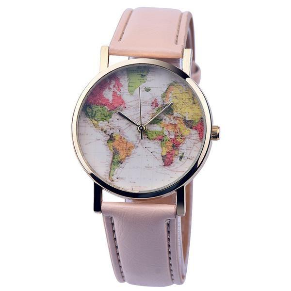 Premium leather world map watch free worldwide shipping jewelry premium leather world map watch free worldwide shipping gumiabroncs Images