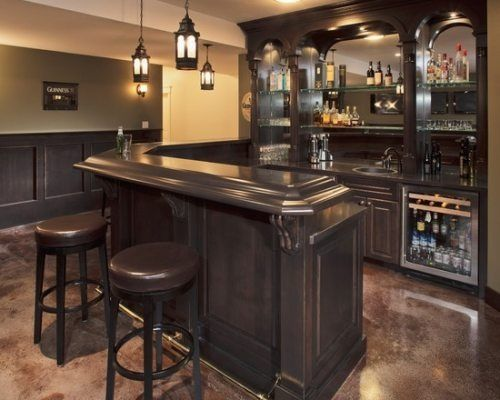 Love The Dark Wood Finish Home Bar Designs Bars For Home