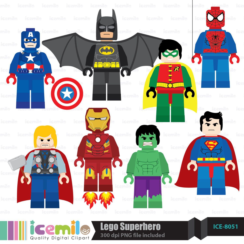 Lego Clip Art Free Lego Superhero Digital Clipart With Images