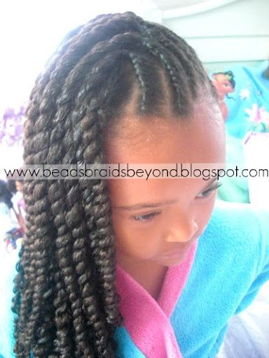 Double twist on the scalp and three strand twist :) CUTE! | Hair ...