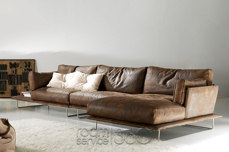 Vessel Modern Sectional Sofa with Chaise by Gamma ...