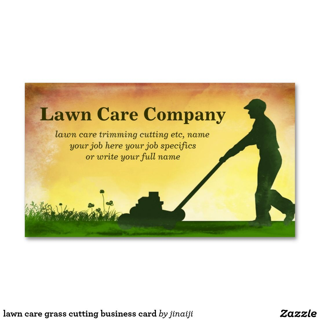 lawn care grass cutting business card standard business cards ...