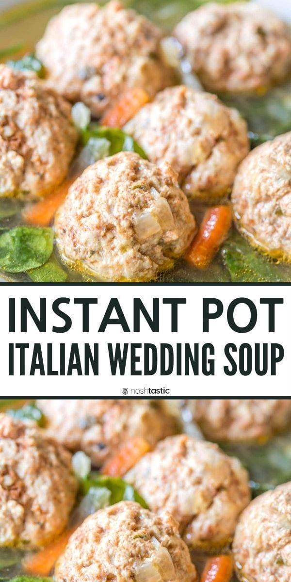 Instant Pot Italian Wedding Soup Recipe, all the authentic