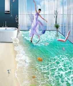 3D Ocean Dolphin 3 Floor WallPaper Murals Wall Print Decal 5D AJ WALLPAPER