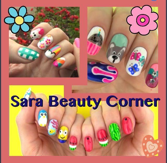 SaraBeautyCorner on youtube nail art designs WITH NO TOOLS! Amazing ...
