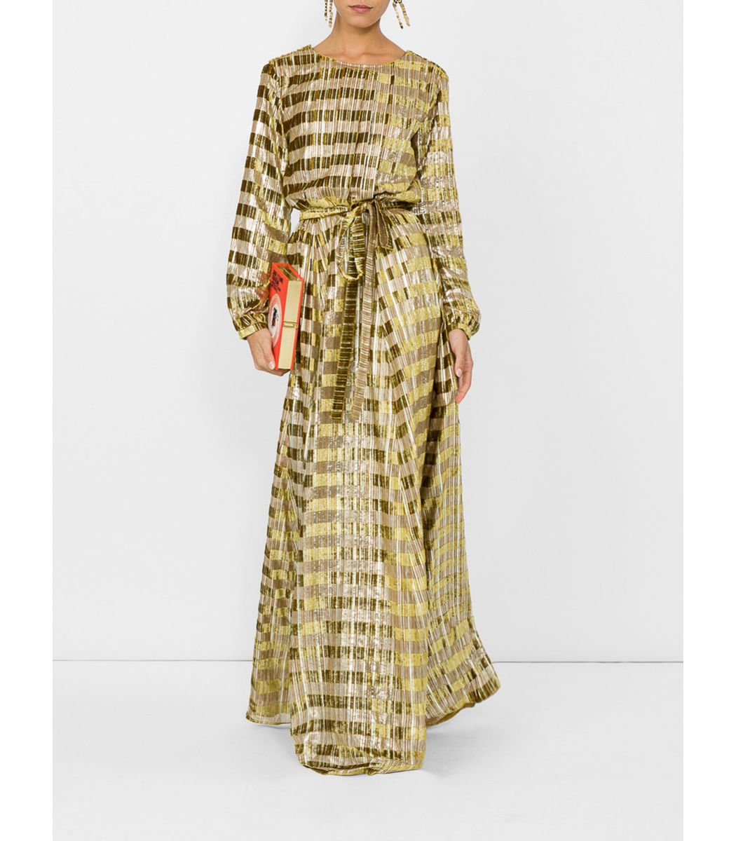 Ines De La Fressange Gold Adele Llong Dress My Style