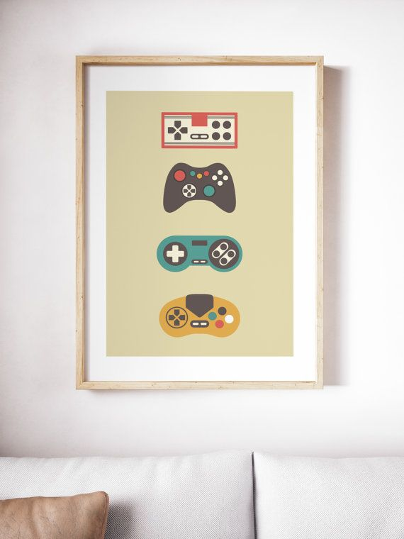 Gamer Print, Wall Art, Retro Wall Art, Retro Gamer, Digital Print
