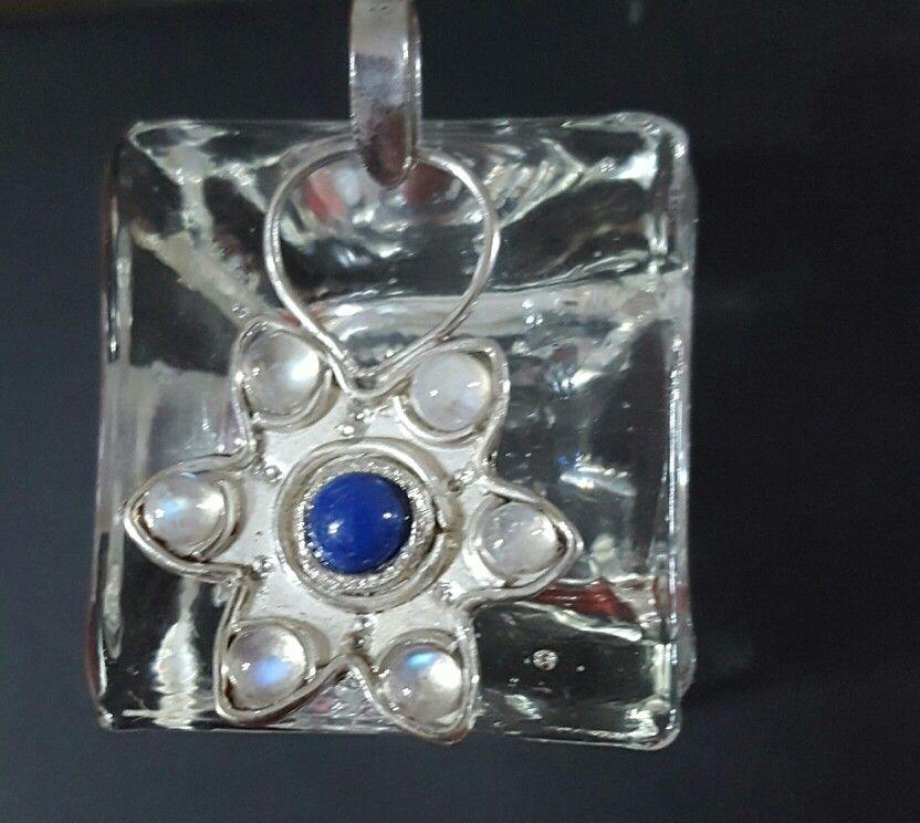 Dile plata 925 con lapislázuli y piedra luna
