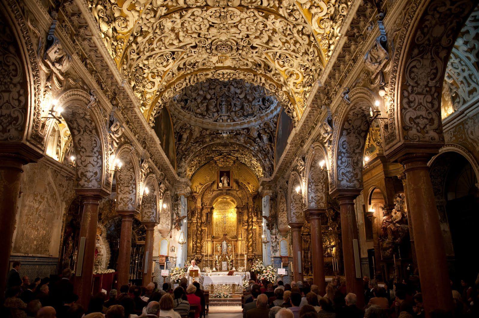 DANIEL SALVADOR-ALMEIDA: ULTIMA MISA EN LA IGLESIA DE SANTA MARIA LA BLANCA DE SEVILLA ANTES DE SU CIERRE POR RESTAURACIÓN