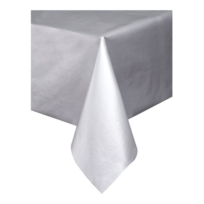 Bulk Silver Dunisilk Banquet Tablecover 1 Pkg 25 Pkgs Case Wholesale Tablecloths Table Covers Table Cloth