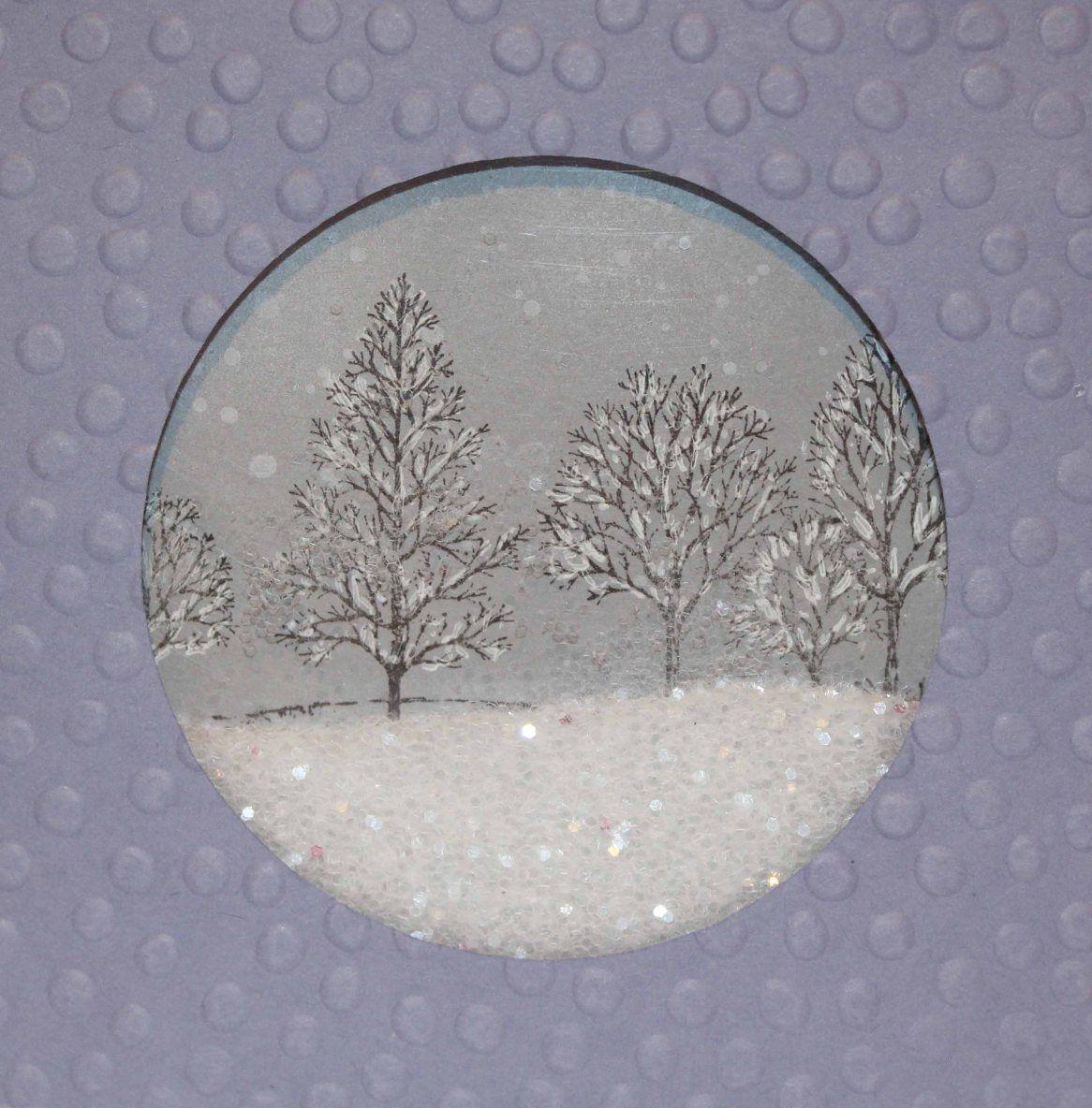 Снег на открытке своими руками, открытки