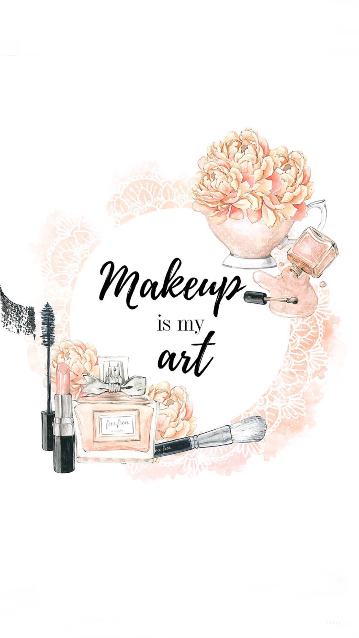 Pin By Noufh On Wallpapers Ilustration Art Makeup Illustration Makeup Artist Logo