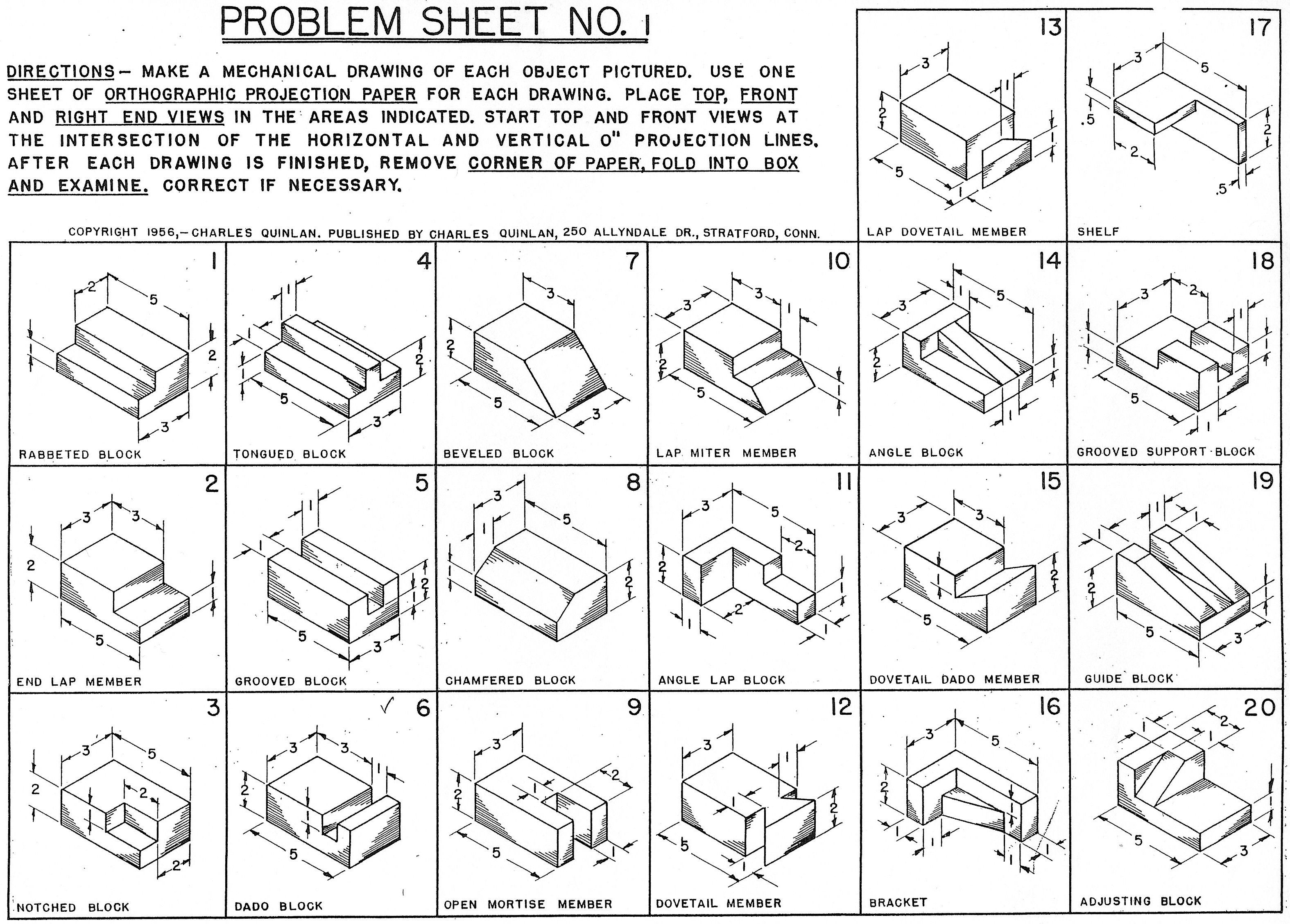 Isometric Drawings Worksheet