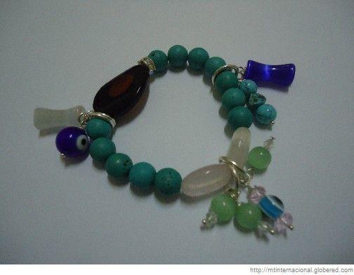 pulseras de cristal de murano con dijes - Buscar con Google
