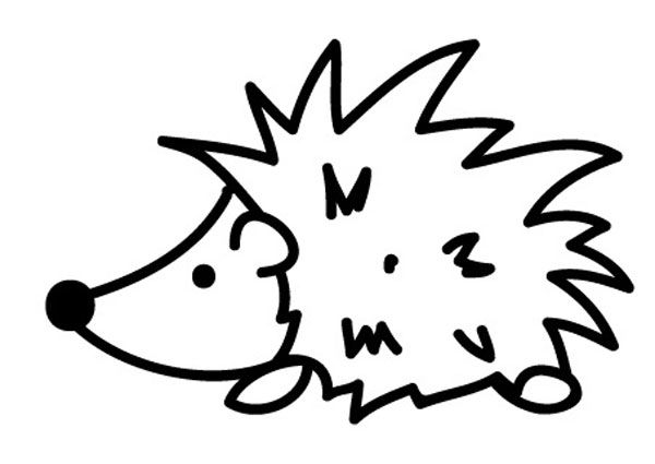 Ausmalbild Tiere Igel zum Ausmalen kostenlos ausdrucken