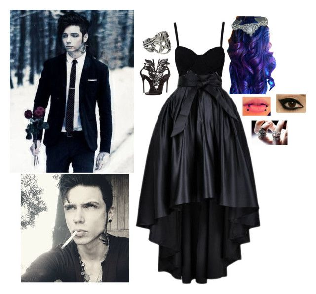 """""""Untitled #680"""" by undead-charms ❤ liked on Polyvore featuring SELECTED, Giuseppe Zanotti, Pamela Love and TIARA"""