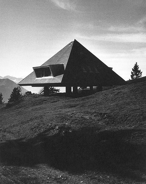Tent House, The Swiss Alps by Justus Dahinden, 1954.