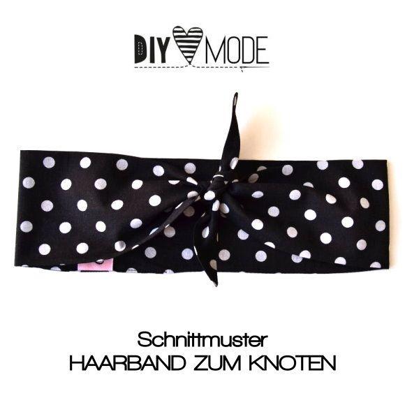 Schnittmuster ♥ Haarband zum Knoten | Nähen | Pinterest | Sewing ...