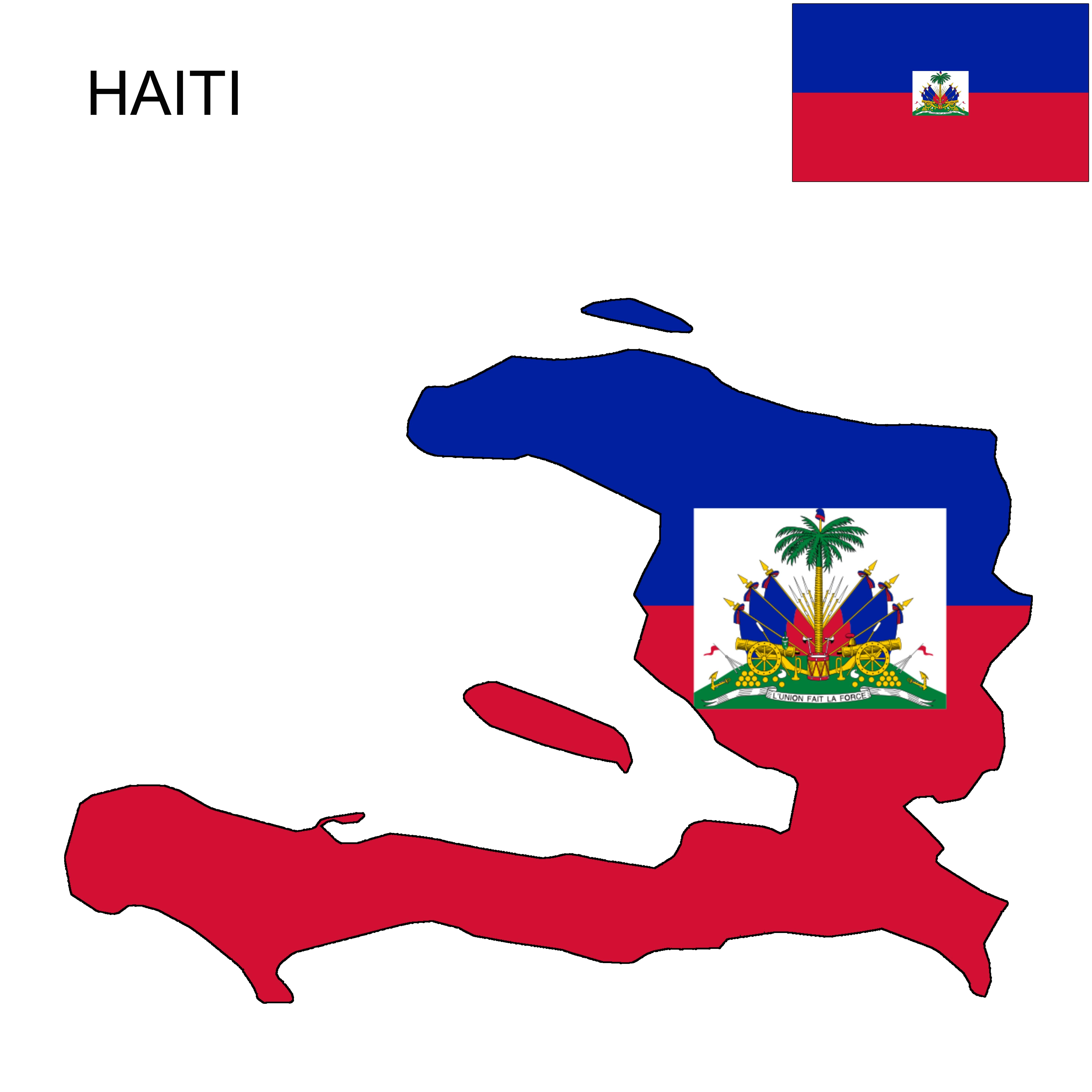 Flag Map Of Haiti Western Part Of The Caribbean Island That Also Contains The Dominican Republic In 2020 Haiti Flag Flag Map Of Haiti