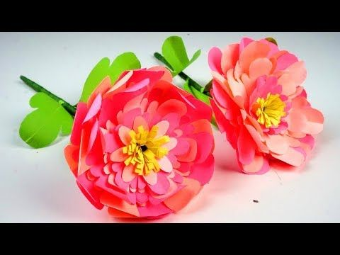 How to Make Easy Beatiful Flower with Paper - Making Paper Flowers Step by Step - Handmade Craft - YouTube #easypaperflowers