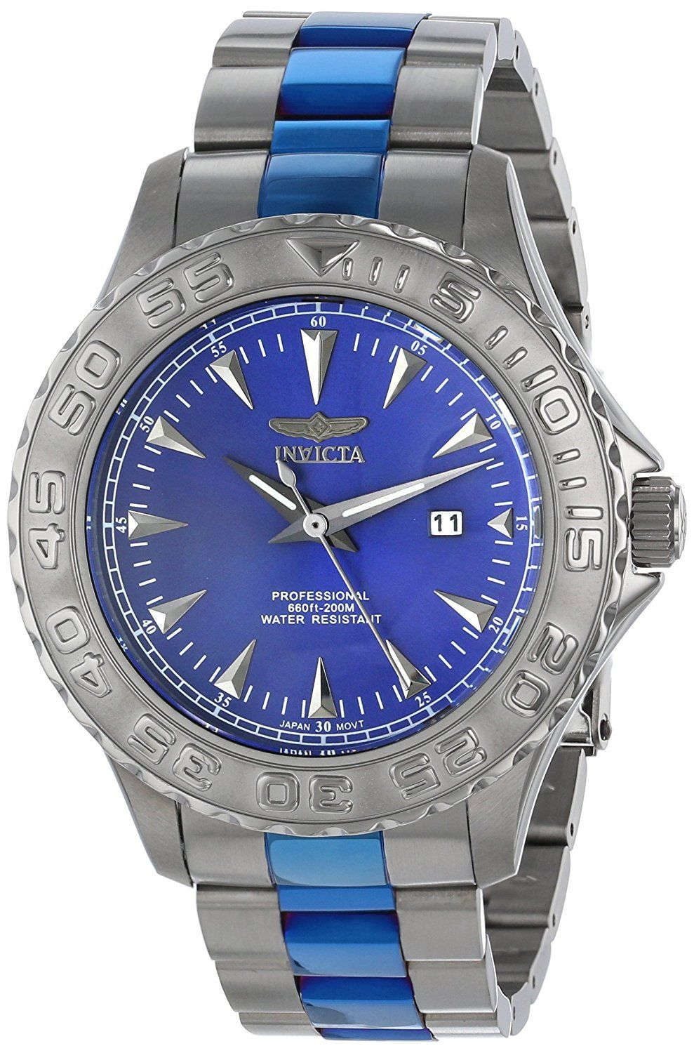 Invicta Men's 15496 Pro Diver Analog Display Japanese Quartz Two Tone Watch -- See this great product.