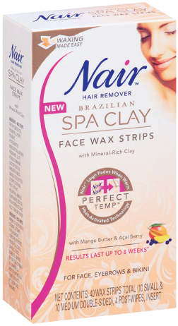 Brazilian Spa Clay Face Wax Strips Wax Hair Removal Nair