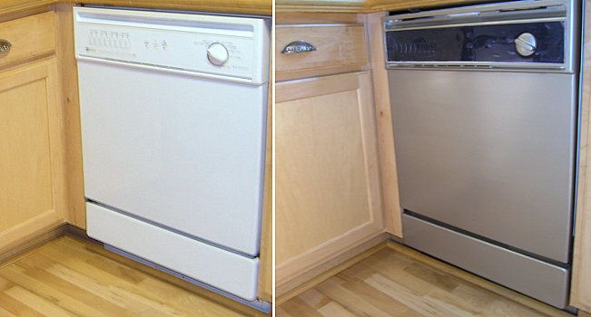 Turning White Appliances into Stainless Steel for $25! | Black appliances,  Scissors and Adhesive