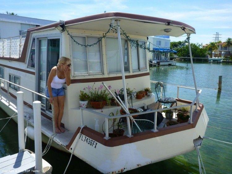 1972 Average Boat Values 34 Houseboat Key West FL for Sale
