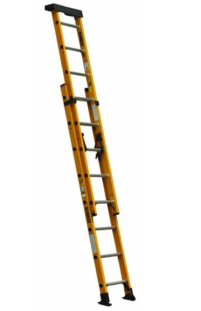 Extension Ladder Dewalt Fiberglass 16 Foot Handyman Painting Guttering Windows Dewalt Ladder Work Lights Articulating Ladder