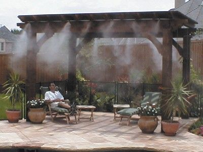 Cool Mist Water Misting Applications Patio Mister Outdoor