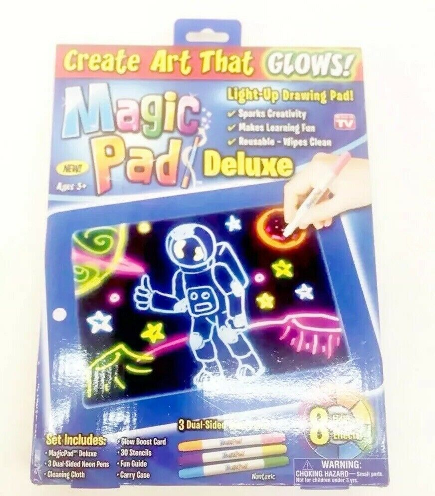 New Magic Pad Light Up Drawing As Seen on TV Create Art that Glows