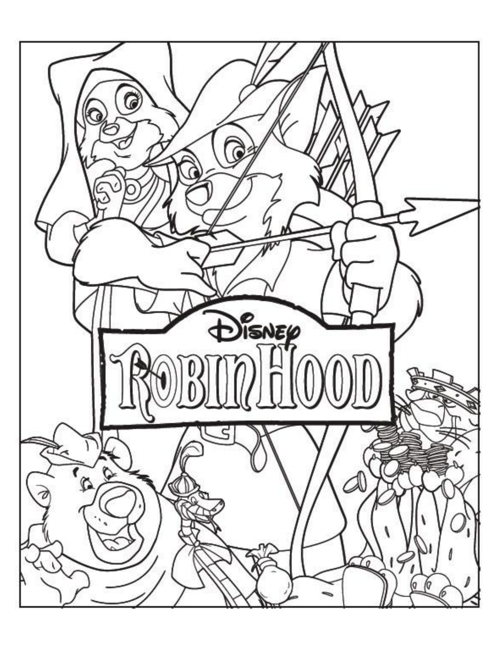 Robin Hood Disney Coloring Pages Coloring Pages Disney Mural
