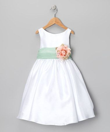 Twyla's flower girl dress! Scored it for an incredible deal... over 50% off on zulily.com!