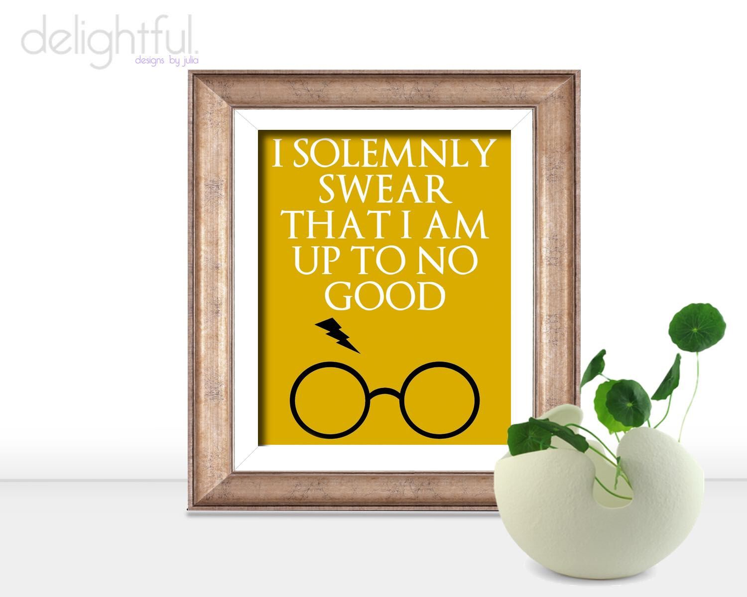 Instant Download Harry Potter Quote Poster / I Solemnly Swear That I ...