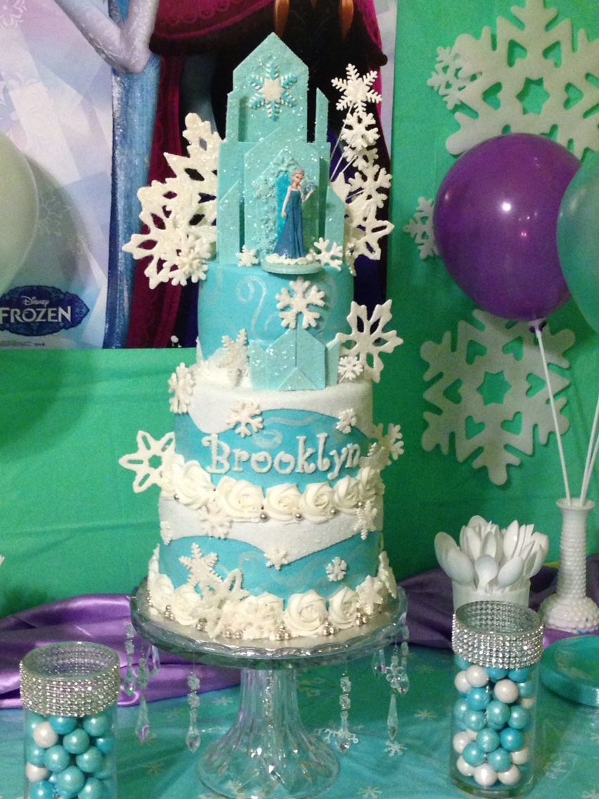 Birthday Cakes Brooklyn ~ Elsa frozen cake for brooklyn s th birthday made by me and helped at my day