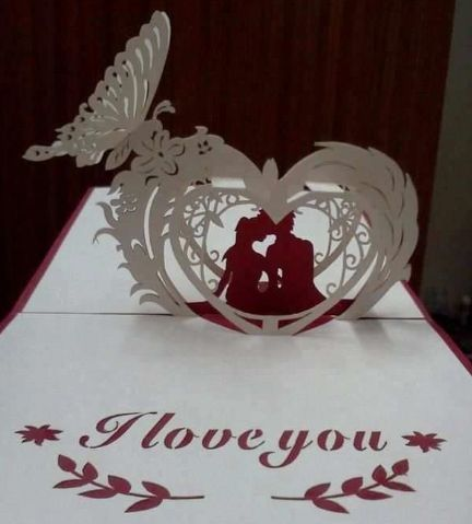 Valentines Day Love Paper Cutting Free Paper Craft Template