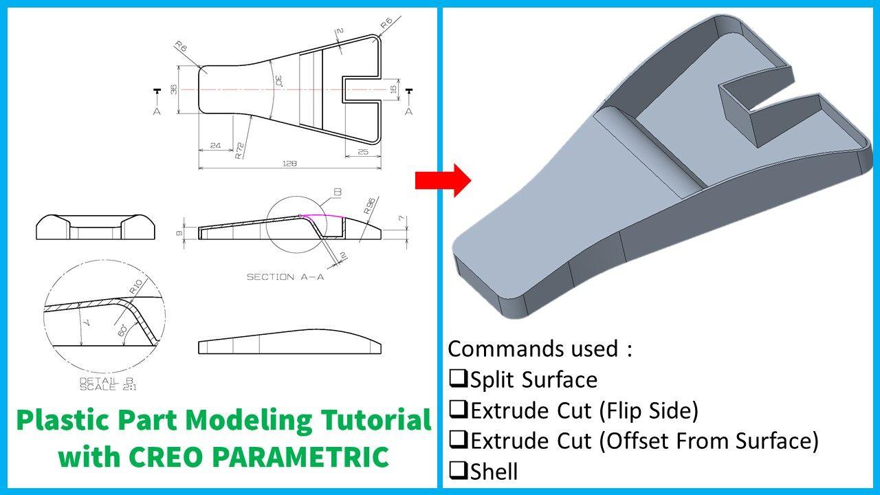 Plastic Part Modeling Tutorial Design Tutorials Tutorial Parametric