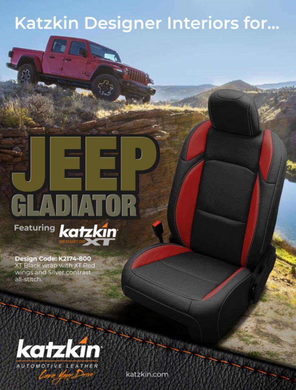 gladiator jeep leather seat covers interior seats katzkin uploaded user