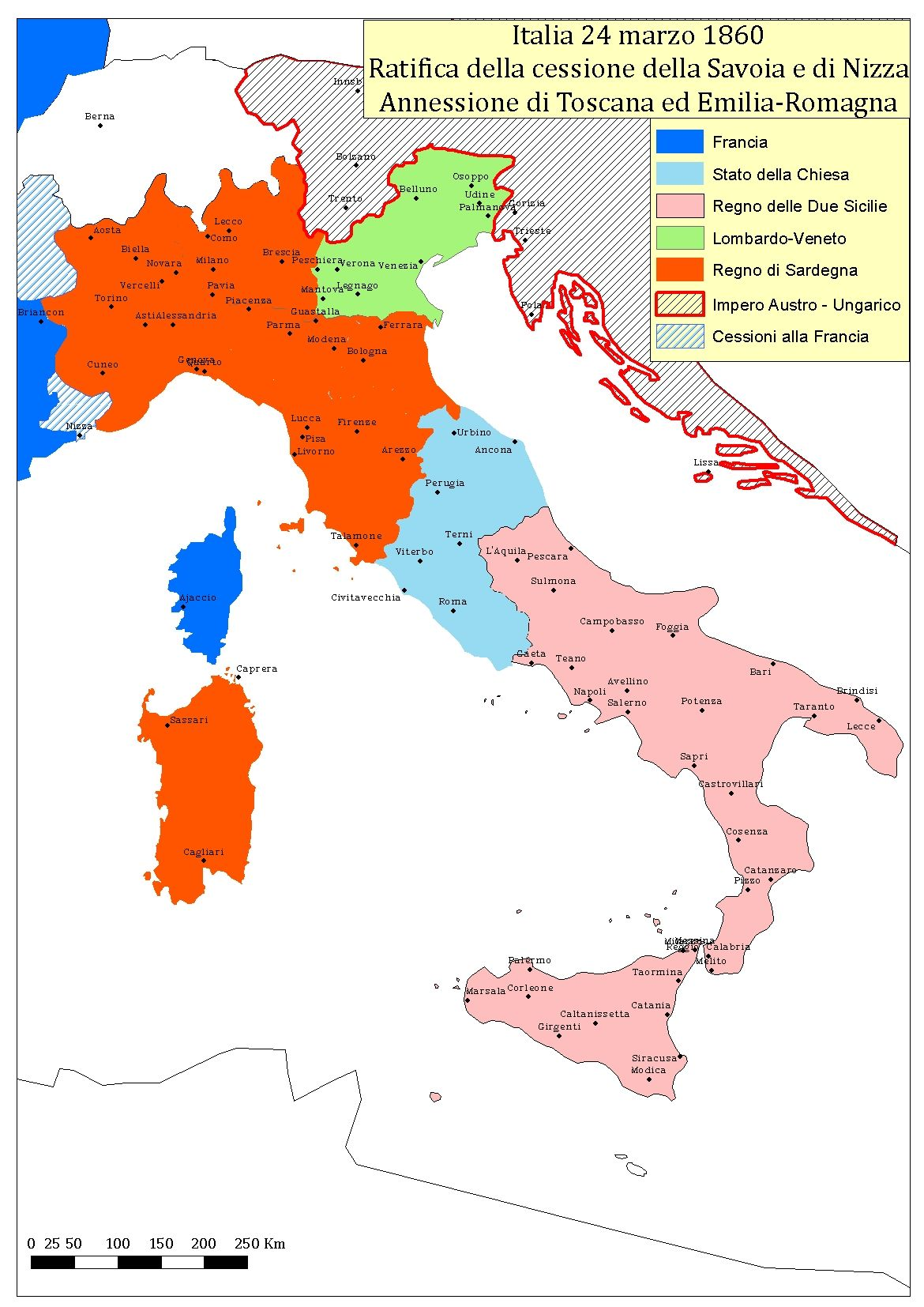 Cartina Italia 1860.150 Anni Dell Unita D Italia La Geografia Dell Italia 24 Marzo 1860 Tuscanyagriturismogiratola Mappa Dell Italia Geografia Mappe Antiche