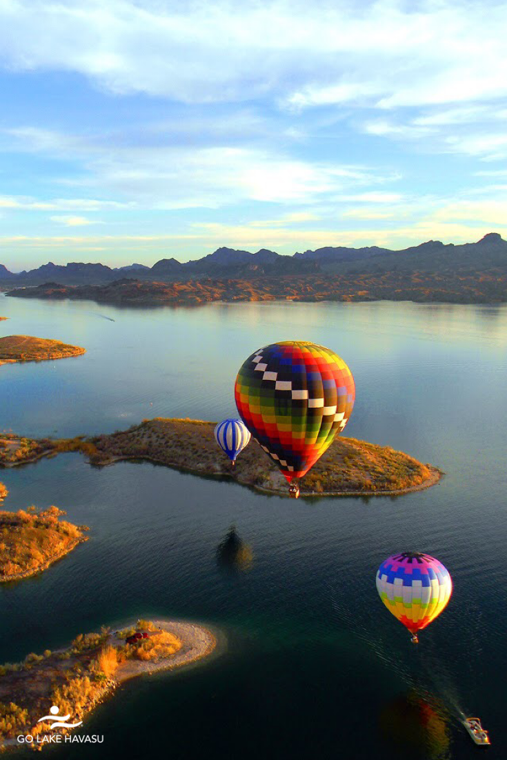 Float over Lake Havasu in a hot air balloon tour. in 2020