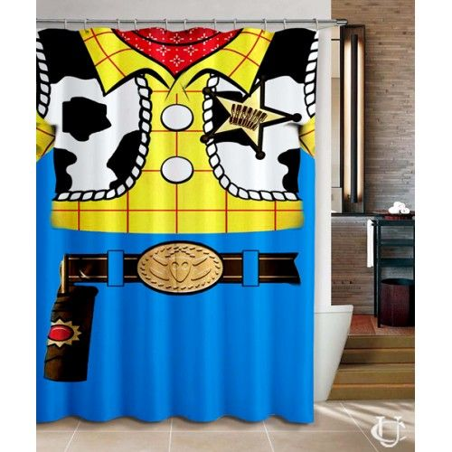 Woody Toy Story Pixar Movie Design Shower Curtain Disney Shower