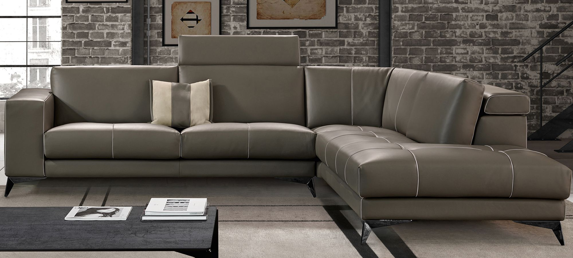Gamma Charles Living Room Sectional Furniture Luxury Italian Furniture