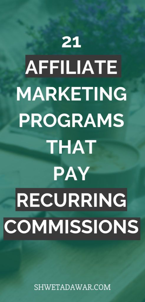 21 Affiliate Programs that offer lifetime recurring commissions| Affiliate Marketing | Recurring Commissions | Passive Income- Shweta Dawar