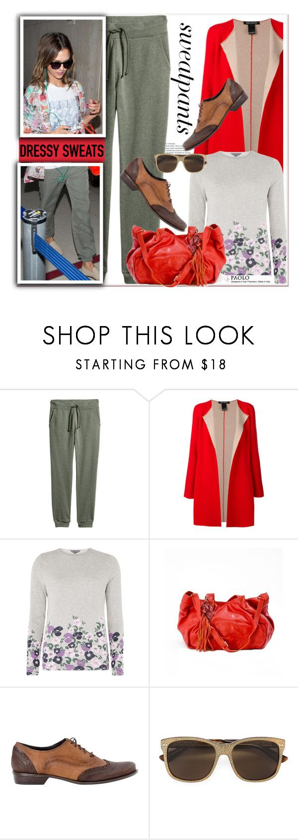 """""""Comfort is Key: Sweatpants and PaoloShoes"""" by spenderellastyle ❤ liked on Polyvore featuring IRIS VON ARNIM, Dorothy Perkins, Oxford, Gucci and sweatpants"""