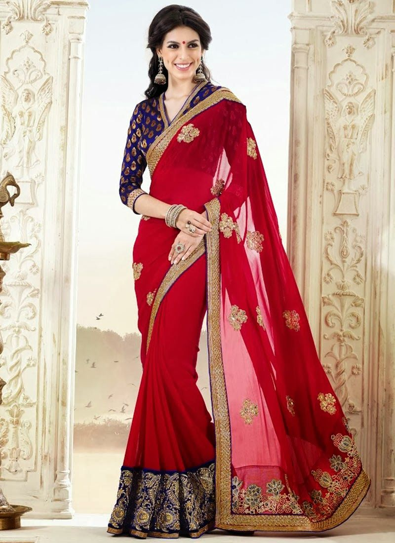Bollywood Style Designer Embroidery saree blouse , most