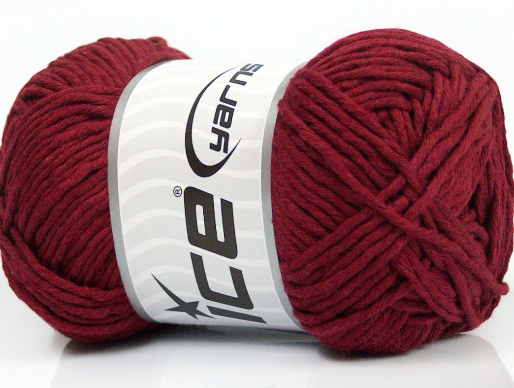 Please Note That The Yarn Weight And The Ball Length May Vary From One Color To Another For This Yarn Fiber Content 100 Cotton Brand Ice Burgund