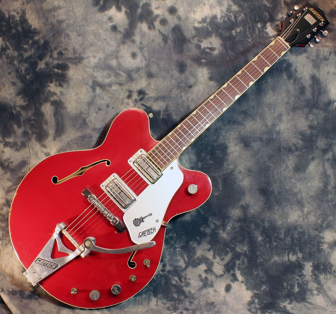 In the first year, the guitar came with a white Monkees