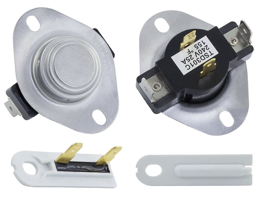 Cycling Thermostat Kit Thermal Fuse Electric Whirlpool Kenmore Dryer Roper Sears  Roper