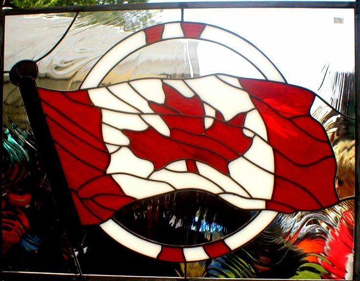 Canadian Flag Stained Glass Pinterest Faux Stained Glass Stained Glass Stained Glass Supplies